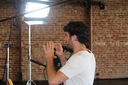 Teddy Forance behind the scenes at CLI Studios. Photo courtesy of CLI Studios.