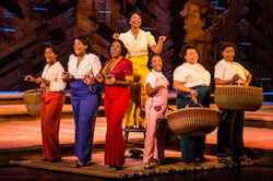 Adrianna Hicks (Celie) and the North American tour cast of 'The Color Purple'. Photo by Matthew Murphy.