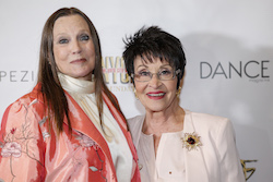 Ann Reinking and Chita Rivera at the NYCDAF Bright Lights Shining Stars Gala. Photo courtesy of NYCDAF.