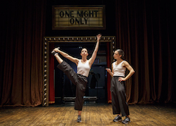 Anna Bass and Monica Bill Barnes in 'One Night Only'. Photo by Joan Marcus.