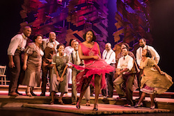 Carla R. Stewart (Shug Avery) and the North American tour cast of 'The Color Purple'. Photo by Matthew Murphy.