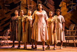 Carrie Compere (Sofia) and the North American tour cast of 'The Color Purple'. Photo by Matthew Murphy.