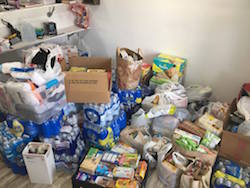 Food, water and other essentials donated at iRule Dance Studio. Photo courtesy of iRule.