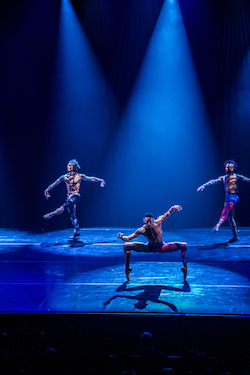 Simon Plant, Addison Ector and Greg Blackmon in 'Star Dust'. Photo by Hagos Rush.
