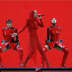 Winnie Chang in Katy Perry WITNESS Tour. Photo courtesy of Chang.