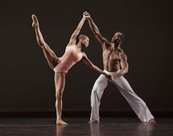 Alvin Ailey American Dance Theater's Akua Noni Parker and Jamar Roberts in Christopher Wheeldon's 'After the Rain Pas de Deux'. Photo by Paul Kolnik.