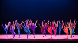 Alvin Ailey American Dance Theater in Billy Wilson's 'Winter in Lisbon'. Photo by Teresa Wood taken at the John F. Kennedy Center for the Performing Arts.
