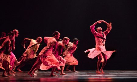 Alvin Ailey American Dance Theater in Robert Battle's 'Mass'. Photo by Paul Kolnik.