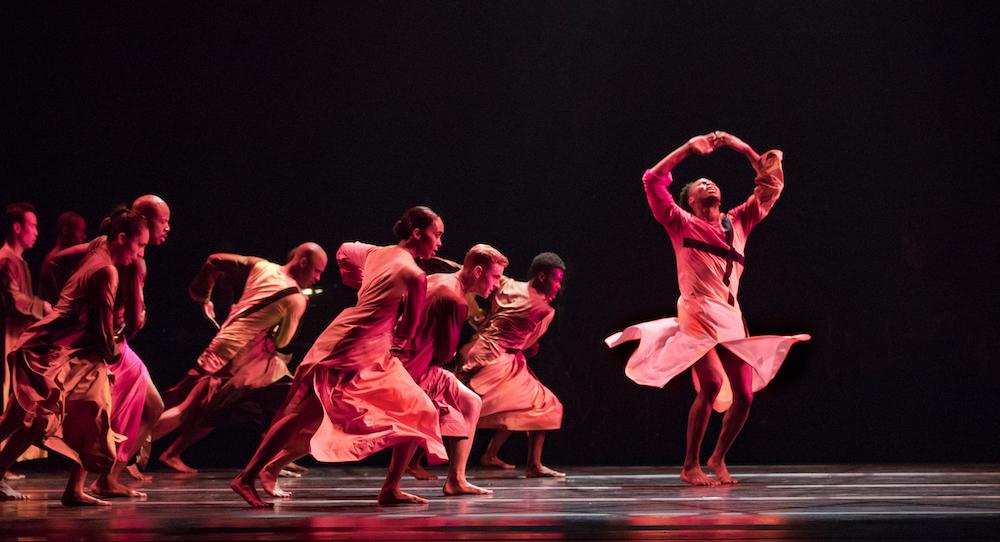 Alvin Ailey American Dance Theater in Robert Battle's 'Mass'. Photo by Paul Kolnik.
