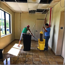 ClassJuggler client Alicia Extreme Dance Academy in Puerto Rico has ceiling damage from Hurricane Maria.