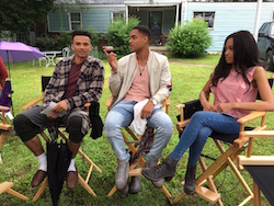 Dancers on set of new 'Step Up: High Water' series. Photo courtesy of Marcus Mitchell (center).