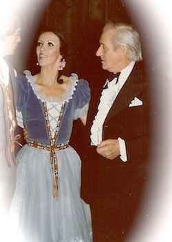 Herci Marsden with Sir Anton Dolin, artistic advisor in the 1970s. Photo courtesy of Marsden.