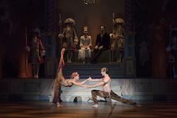 Lia Cirio and Lasha Khozashvili in 'Mikko Nissinen's The Nutcracker'. Photo by Liza Voll, courtesy Boston Ballet.