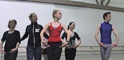 Melinda Wilson with students. Photo courtesy of Wilson.