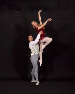 SBRI Soloist Brianna Mattis with SBRI Principal Dancer Aaron DeVivo. Photo courtesy of Herci Marsden.