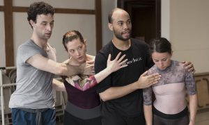 Tara Gragg (second from left) in rehearsal. Photo courtesy of Gragg.