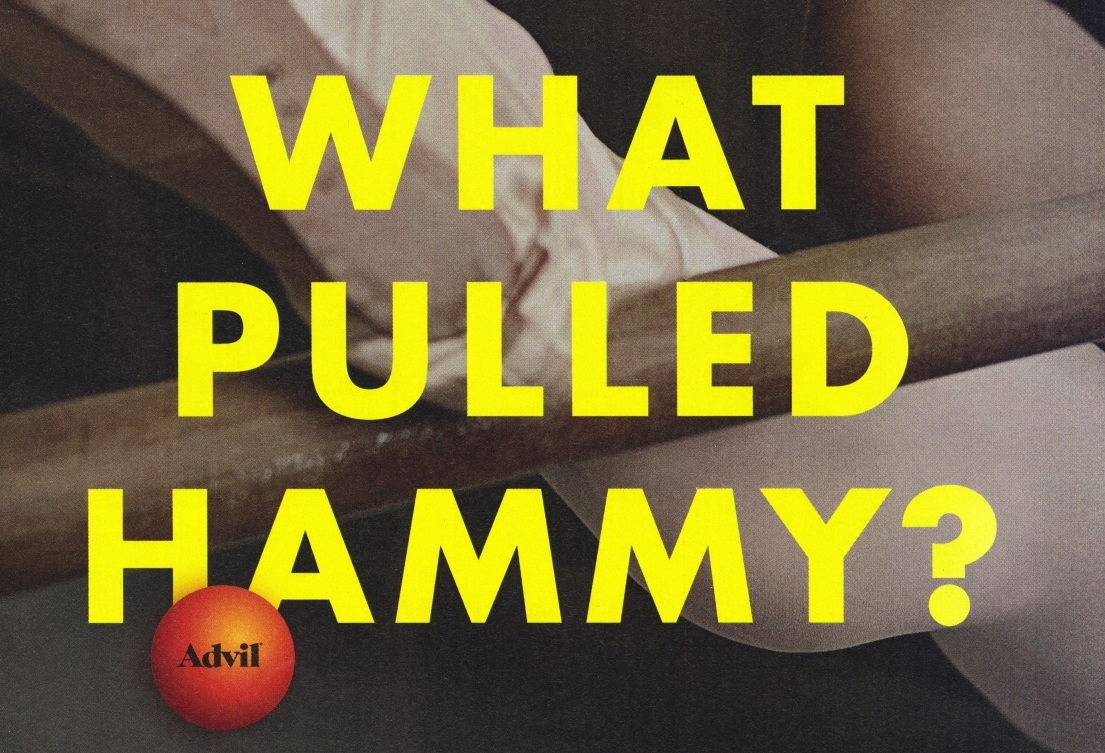 What pulled hammy?