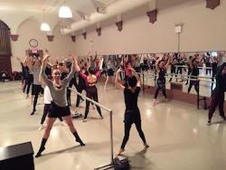 Yuka Kawazu's ballet class at Ballet Arts. Photo courtesy of Kawazu.