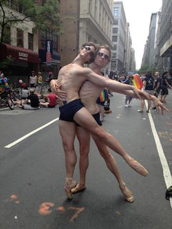 Billy Blanken and J Ryan Carroll at the NYC Pride Parade. Photo courtesy of Blanken.