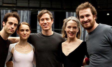 'Black Swan' on set with Benjamin Millepied, Natalie Portman, Kurt Froman, Christine Redpath and Darren Aronofsky. Photo by Niko Tavernise.