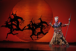 Buyi Zama as Rafiki in 'The Lion King' North American Tour. ©Disney. Photo by Joan Marcus.