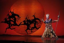 Buyi Zama as Rafiki in 'The Lion King' North American Tour. ©Disney. Photo by Joan Marcus.