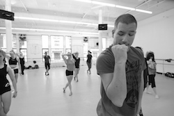 Derek Mitchell teaching contemporary at Steps on Broadway. Photo by Paul B. Goode.