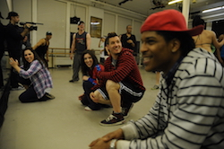 Derek Mitchell with hip hop faculty at Steps on Broadway. Photo by Eduardo Patino.