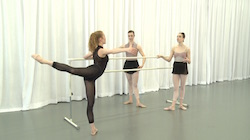From Lauren King's Dancio ballet class.