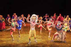 Gerald Caesar and company in 'The Lion King' North American Tour. ©Disney. Photo by Deen van Meer.