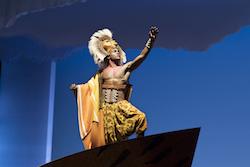 Gerald Caesar as Simba in 'The Lion King' North American Tour. ©Disney. Photo by Deen van Meer.