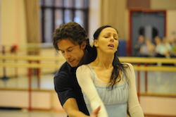 Matthew Lawrence and Gaylene Lawrence in rehearsal for 'Romeo and Juliet'. Photo courtesy of Lawrence.