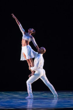 Alvin Ailey American Dance Theater's Linda Celeste Sims and Glenn Allen Sims in David Parsons' 'Shining Star'. Photo by Christopher Duggan.