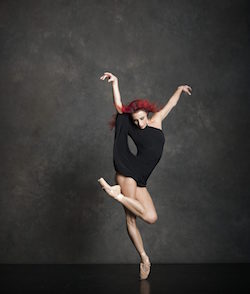 Les Ballets Jazz de Montréal's Céline Cassone. Photo by Ken Browar and Deborah Ory.