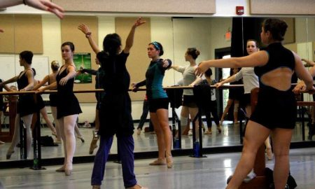 Noriko Hara teaching an Elon College Dance Program master class. Photo by Jen Guy Metcalf.