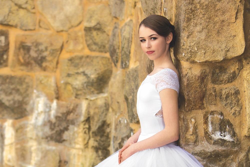 Aviva Gelfer-Mundl models for Discount Dance Supply