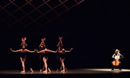 Boston Ballet in Jorma Elo's 'Bach Cello Suites'. Photo by Rosalie O'Connor, courtesy of Boston Ballet.
