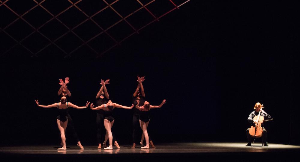 Boston Ballet in Jorma Elo's 'Bach Cello Suites'. Photo by Rosalie O'Connor, courtesy of Boston Ballet.