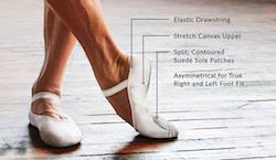 Capezio's MR ballet shoe. Photo courtesy of Capezio.