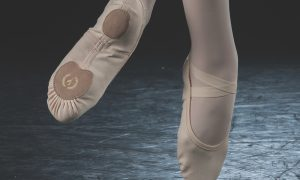 Eurotard's Assemblé Split Sole Ballet Shoe. Photography by Richard Calmes.
