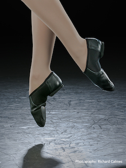 Eurotard's Axle Black Jazz Shoe. Photography by Richard Calmes.