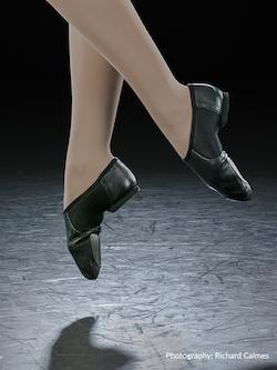 Eurotard's Axle Black Jazz Shoe. Photography by Richard Calmes.