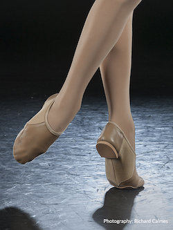 Eurotard's Axle Tan Jazz Shoe. Photography by Richard Calmes.