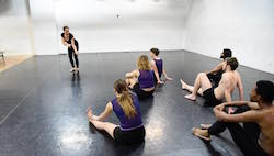 Heather Bryce with dancers. Photo by Arthur Fink Photography.