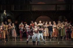 Isaac Akiba, Derek Dunn and Paulo Arrais in John Cranko's 'Romeo & Juliet'. Photo by Liza Voll, courtesy of Boston Ballet.