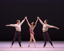 Jacob Bush, Jessica He and Keaton Leier in Craig Davidson's 'Remembrance:Hereafter'. Photo by Gene Schiavone.