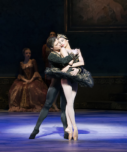 Jessica Assef and Nikolas Gaifullin in Atlanta Ballet's 'Swan Lake'. Photo by Gene Schiavone.