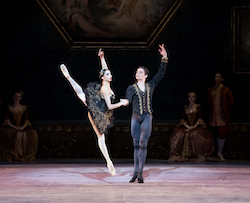 Jessica Assef and Nikolas Gaifullin in Atlanta Ballet's 'Swan Lake'. Photo by Gene Schiavone.