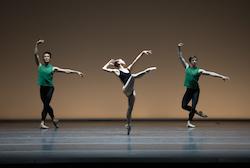 John Lam Misa Kuranaga and Isaac Akiba in William Forsythe's 'Pas/Parts 2018'. Photo by Rosalie O'Connor, courtesy of Boston Ballet.