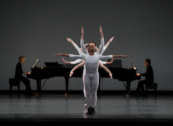 Lawrence Rines and Boston Ballet in Justin Peck's 'In Creases'. Photo by Rosalie O'Connor, courtesy of Boston Ballet.